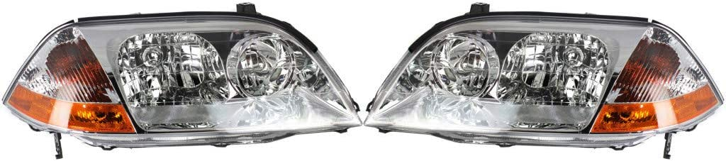 For Acura MDX Headlight Assembly 2001 Fashionable Luxury goods 2003 Driver 2002 and Pair