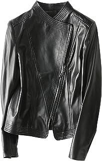 Motorcycle Sheep Leather Jacket,Waterproof Lightweight Puffer Jackets Faux Leather Jackets Denim Jacket with Hoodies Armou...