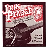 John Pearse Strings® 3000 Jeu de Cordes pour Guitare Resophonic/Acoustic Steel - Nickel Wound - G-Tuning