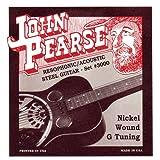 John Pearse 3000 JP - Juego de cuerdas para guitarras Resophonic (níquel)