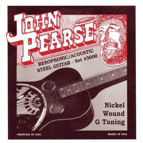 John Pearse Saitensatz für Dobrogitarren Nickel