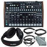 Arturia DrumBrute Analog Drum Machine and Accessory Bundle w/Stereo Headphones + Cables + Fibertique Cloth