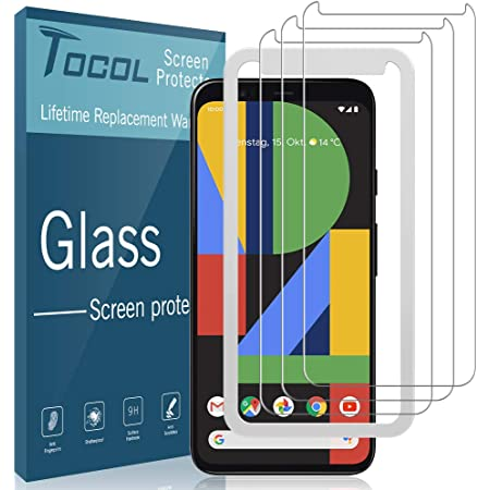 TOCOL 3 Pack Compatible with Google Pixel 4 XL Screen Protector Tempered Glass HD Clarity Touch Accurate 9H Hardness with Easy Installation Tray