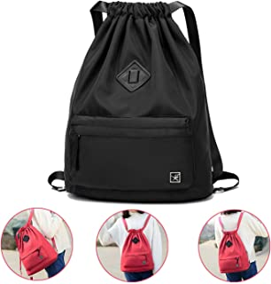 50450d001 IVIM Waterproof Drawstring Bag, Gym Bag Sackpack Sports Backpack for Men  Women Girls