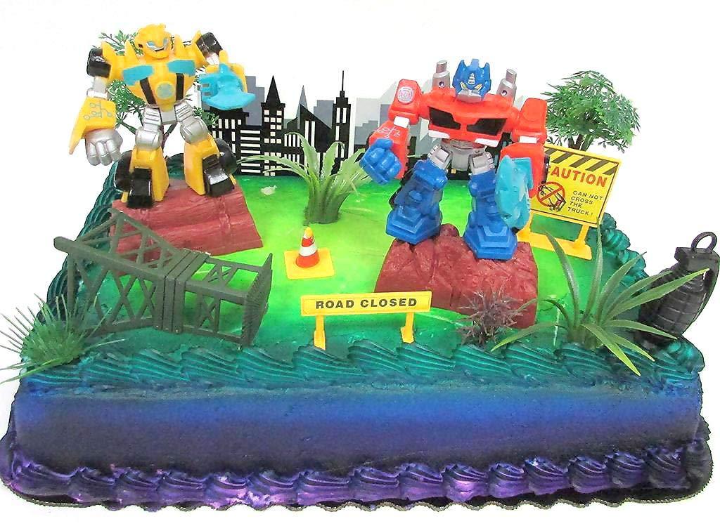 Incredible Transformers 10 Piece Birthday Cake Topper Set Featuring Bumblebee Personalised Birthday Cards Vishlily Jamesorg