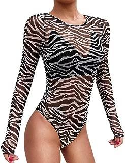 Best zebra mesh bodysuit Reviews