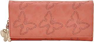 Butterflies Baby Pink Synthetic Women's Wallet (BNS 2383BPK)