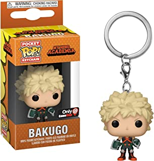 Bakugo (GameStop Exc): Funko Pocket Pop! Mini-Figural Keychain & 1 A.C.G. Trading Card Bundle (37515)