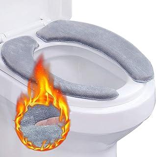 Outgeek WC-Sitzbezug, 2 PCS Toilettensitzbezug WC-Sitzwärmer Memory WC Sitzkissen Foam..