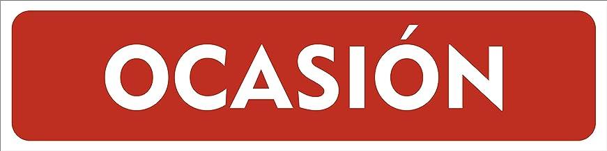 Cartel Vehículo en Ocasión 60x15cm   Cartelería Coche en Ocasión Fabricado en Polipropileno   Cartel Resistente con 4 Ojales de Policarbonato   Ideal para Concesionarios o Particulares