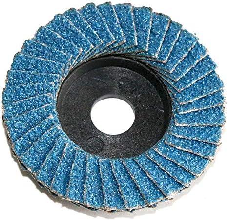 10st slijpschijf Flap Discs for 2 Inch Mini Air haakse slijper for Metaal hout en kunststof polijsten Disc 80 Grit YUAN CHUANG KleurBlue 10PCS Grit80