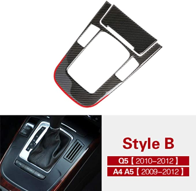 Für Audi A4 A5 Q5 Innen Zubehör Carbon Fiber Car Center Schaltgetriebe S Element Auto Styling Dekorative Aufkleber Style G Auto