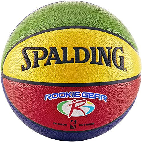 Spalding NBA Rookie Gear Multi Color Youth Indoor/Outdoor Basketball , Size 5, 27.5
