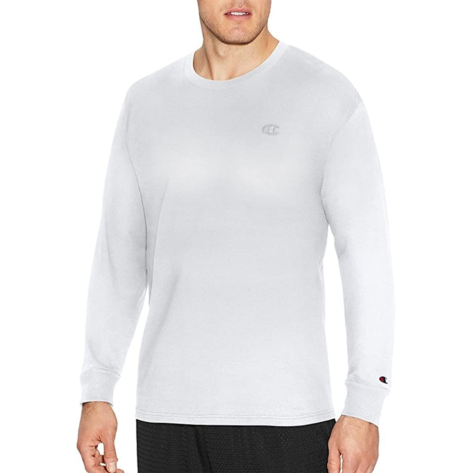 純度損失エキゾチック(チャンピオン) Champion メンズ トップス 長袖Tシャツ Champion Classic Cotton Long Sleeve Shirt [並行輸入品]