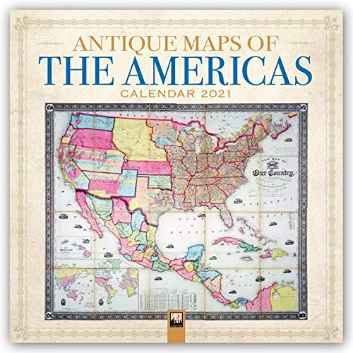 Antique Maps of the Americas – Antike Karten von Nord-, Mittel-, und Südamerika 2021: Original Flame Tree Publishing-Kalender [Kalender] (Wall-Kalender)