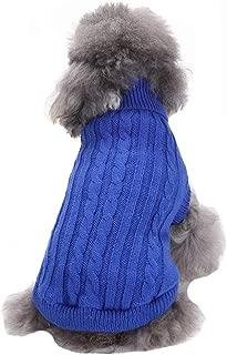 CHBORCHICEN Small Dog Sweaters Knitted Pet Cat Sweater Warm Dog Sweatshirt Dog Winter Clothes Kitten Puppy Sweater