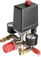 HOUTBY 90-120Psi Air Compressor Pressure Switch Control Valve Regulator Gauge