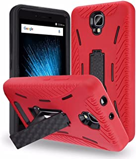 Blu Vivo XL2 (V0070UU) Case, Premium Rugged Heavy Duty Drop Proof Case With Kickstand For Blu Vivo XL2 (V0070UU) -RED
