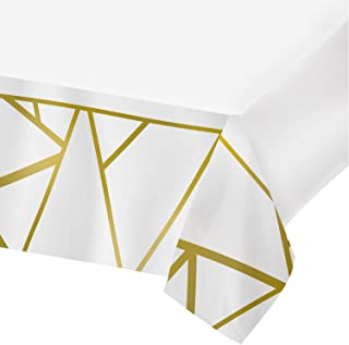 Plastic Tablecloths for Rectangle Tables,- 4 Pack - Party Table Cloths Disposable, Modern Rose Gold, Rectangular Table Covers for Parties Thanksgiving Christmas Wedding, Anniversary, Bridel, Baby Shower- 54