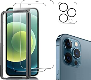 Easylifes Screen Protector for iPhone 12 Pro Max with Apple 12 Pro Max Camera Lens Tempered-Glass [HD Clear] [Case Friendl...