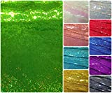 3mm Micro Mini Holographic Sequins on Stretch Polyester Spandex Jersey Fabric (Lime)