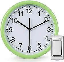 Deurbel Draadloze deurbel Home Mute Wall Clock Batterij Voeding Creatieve Twee-in-One deurbel Wandklok Creatieve huishoude...