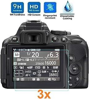 REY 3X Protector de Pantalla para Nikon D5300 - D5500 - D5600 Cristal Vidrio Templado Premium