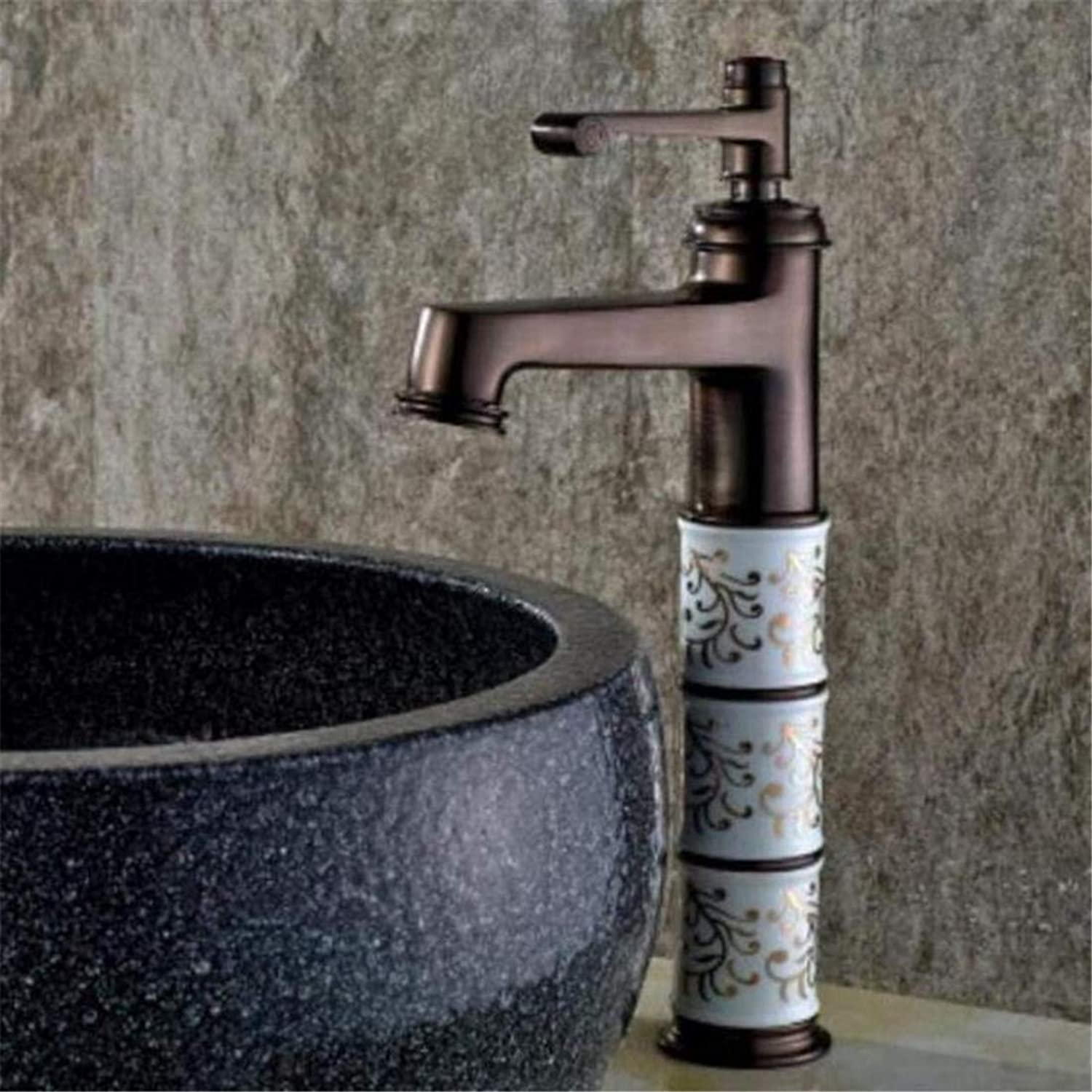 Faucet Luxury Plated Modern Faucet Faucet Mixer Antique Brass Faucet Hot and Cold Basin Mixer Oil Rubbed Bronze Bathroom Sink Mixer Tap