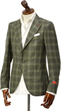 [ISAIA【イザイア】] シングルジャケット 8516V 490 8C SAILOR ウール シルク リネン グレンプレイド グリーン×ホワイト