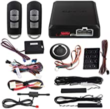 $129 » EASYGUARD EC002-MA-NS Smart Key PKE Car Alarm System with Proximity Lock Unlock Remote Starter Push Button Start Vibration...