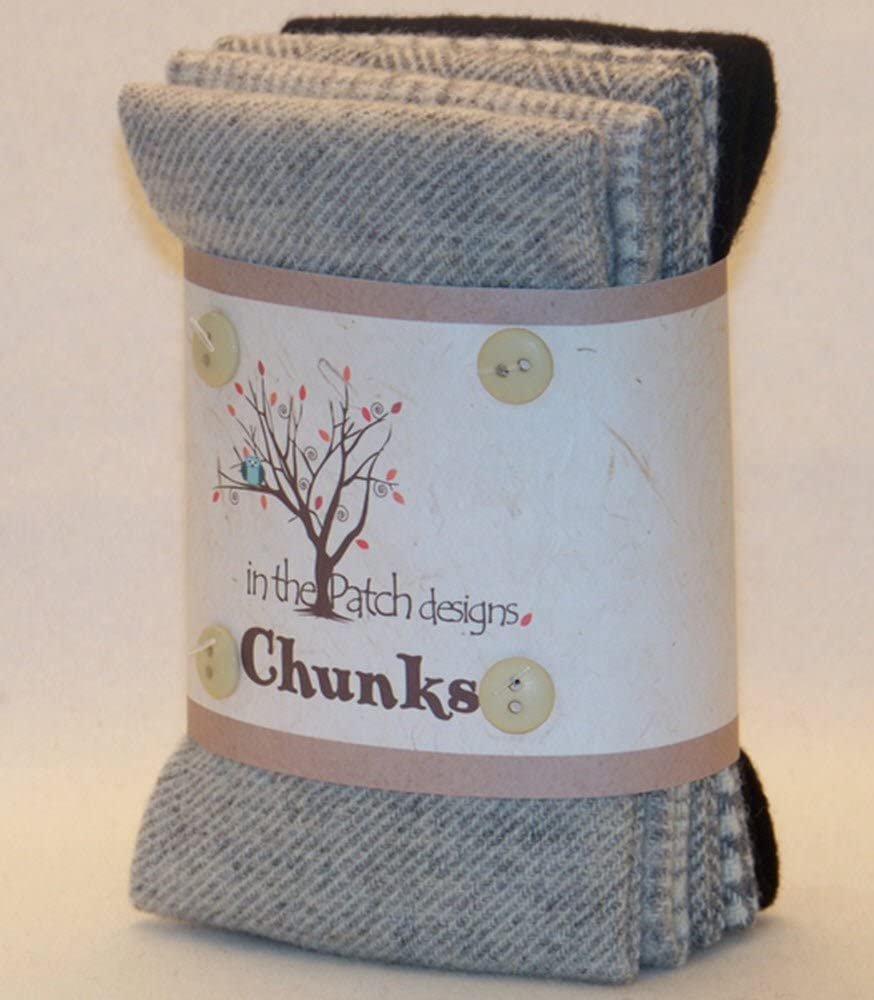 Hand Dyed Felted Grey Wool Chunks お気に入り 5 Piece 商店 in 10