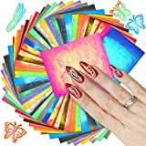 48 Hojas Pegatinas de Uñas de Mariposa Holográficas Calcomanías de Uñas de Mariposa Decoración de Uñas Reflejo Holográfica Plantilla de Uñas de Vinilo 3D para Bricolaje Manicura Uñas Autoadhesiva