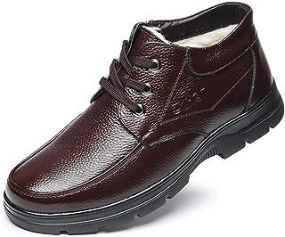 ビジネスブーツ メンズ コンフォートシューズ カジュアル 革靴 父の日 ハイカット 冬 コットン 靴 防寒 幅広 4E 歩きやすい ウォーキングシューズ 柔軟 ドライビングシューズ 防滑 ビジネスシューズ [ムリョ]