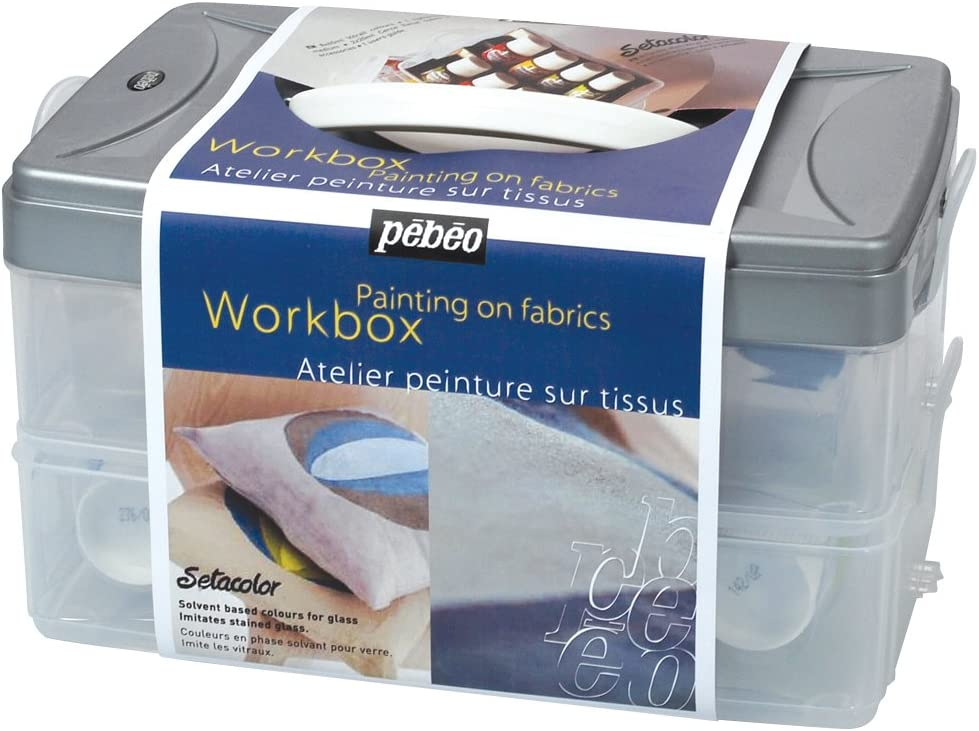 PEBEO PE758406 Setacolor Max 88% OFF Opaque Colors Workbox 15 for Set Max 90% OFF Fabric