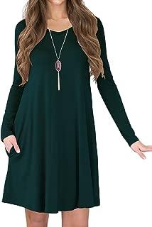 TINYHI Women's Side Pockets Loose Fit Casual Swing Flowy T-Shirt Dress