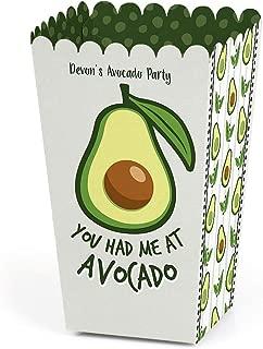 Personalized Hello Avocado - Custom Fiesta Party Favor Popcorn Treat Boxes - Set of 12