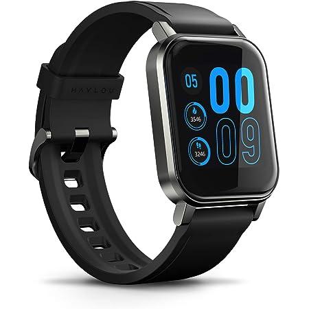 """HAYLOU LS02 Reloj inteligente (1.4 """", 260mAh, Bluetooth 5.0, IP68) - Rastreador de estado físico con aplicación Haylou (frecuencia cardíaca, podómetro, calorías, sueño, seguimiento multideportivo, notificaciones inteligentes), compatible con iOS y Android"""