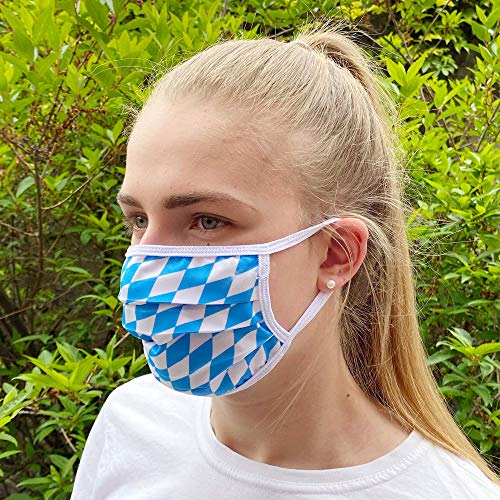 Communitymaske, Mundschutz aus Baumwolle, Bayern