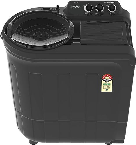 Whirlpool 7 5 Kg 5 Star Semi Automatic Top Loading Washing Machine ACE 7 5 SUPREME Grey Dazzle
