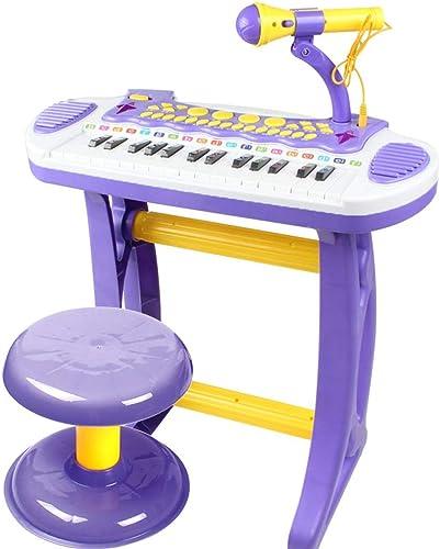 LIPENG-TOY Keyboard Kinder Klavier Mikrofon Junge mädchen Früherziehung Musik Spielzeug 1-3-6 Jahre alt (Farbe   lila)