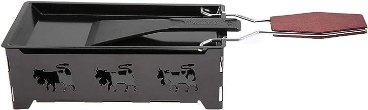 Mini plateau de cuisson antiadhésif, ensemble à raclette, portable pour faire du fromage pour la maison