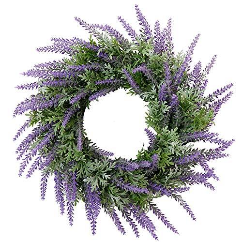 Annfly - Ghirlanda di fiori di lavanda con decorazione in stile retrò, colore: viola