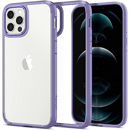 [ニューカラー] Spigen iPhone12 ケース iPhone12Pro ケース 6.1インチ MagSafe 対応 TPU バンパー 背面クリア 米軍MIL規格取得 耐衝撃 すり傷防止 ワイヤレス充電対応 ウルトラ・ハイブリッド ACS03109 (アイリス・パープル)