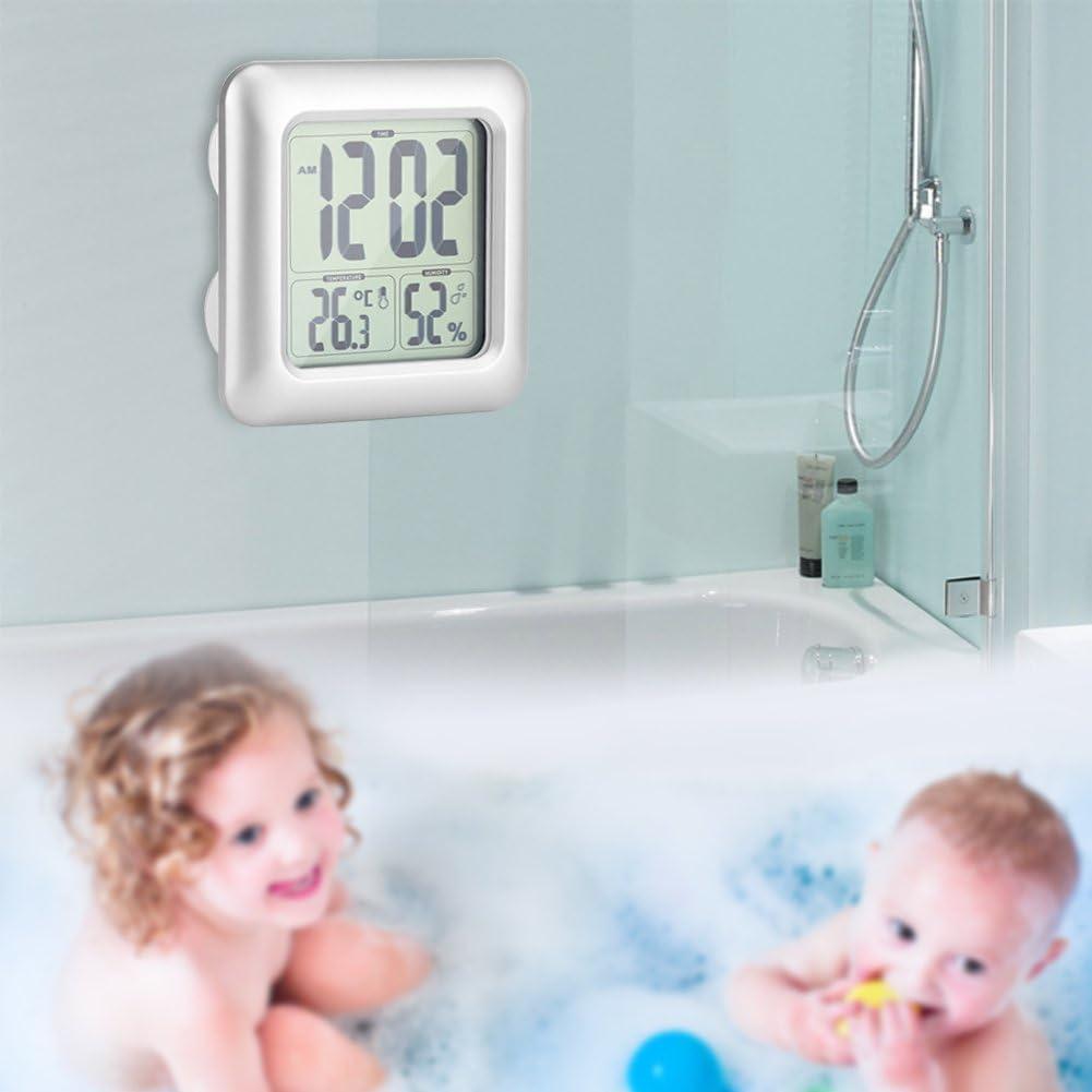 Amazon.de Digitale Wanduhr für Badezimmer, LED, leise, digital ...