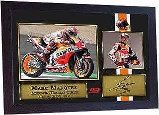 S&E DESING Marc Marquez Signed Photo Print Framed Printed.