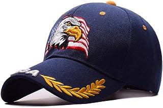 38543ba61f212 VIIMON Printemps Nouveaux Hommes Eagle Casquette De Baseball Drapeau  Américain Broderie Snapback Papa Chapeau Os Mâle
