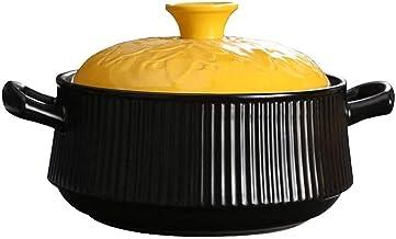 Praktisch Casserole gerechten klei braadpan pot terracotta stoofpot pot keramische braadpan-gezonde en duurzame, hoge temp...