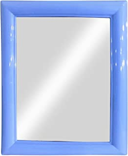 Baal Square Shape Decorative Wall Mirror for Home Living Room and Bathroom Use 20 Gram Pack of 1 (Blue)