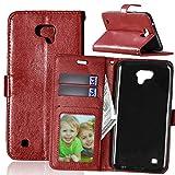 Qiaogle Téléphone Coque - PU Cuir Rabat Wallet Housse Case pour LG X Cam 4G LTE / K580 (5.2 Pouce)...