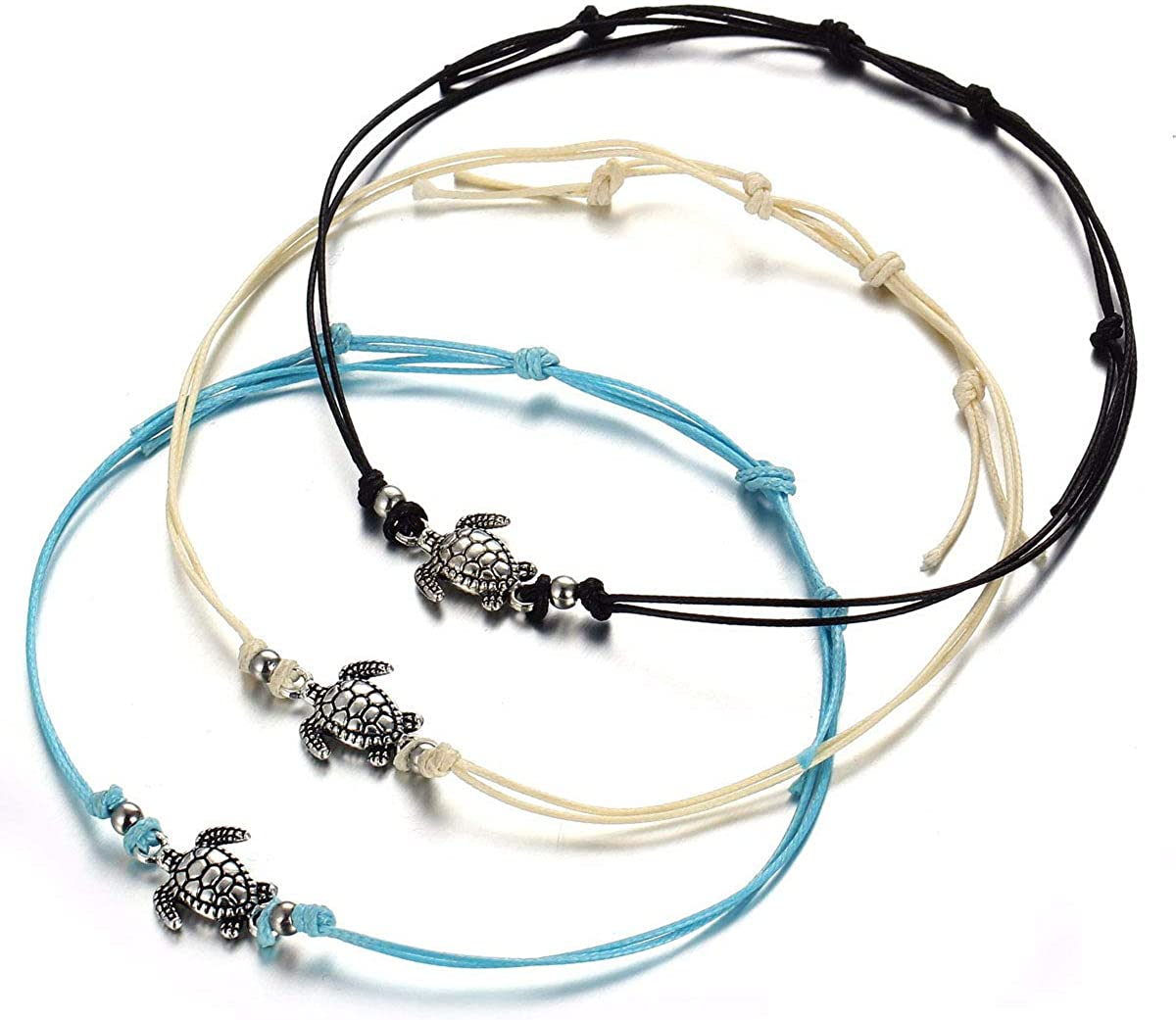 Turtle Beach Anklet Super sale Bracelet for Women Wax Rope All items free shipping Boho Pcs 3